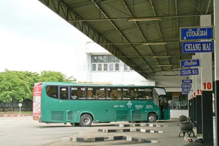 bus station: Lamphun bus station Editorial