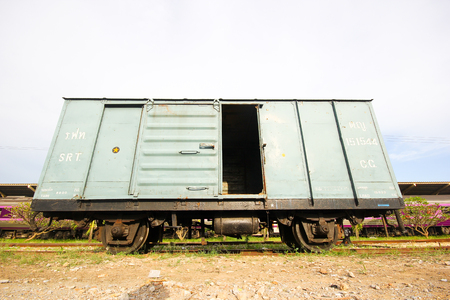 bogie: THAILAND   CHIANGMAI - OCTOBER  3  2012    Cargo bogie no 151544 at chiangmai railway station, thailand