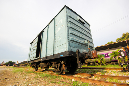 THAILAND   CHIANGMAI - OCTOBER  3  2012    Cargo bogie no 151544 at chiangmai railway station, thailand
