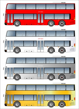 Double deck bus graphic Stock Vector - 25490460