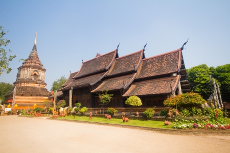Wat lok molee, chiangmai,thailand  Stock Photo