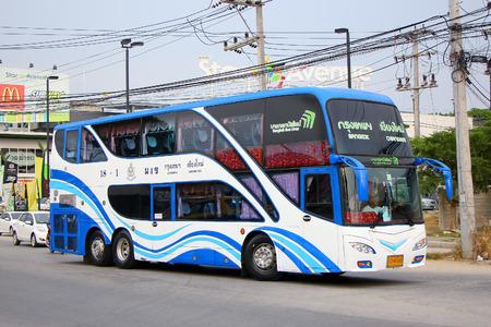 sub station: CHIANGMAI , THAILAND - APRIL 23 2014  Bus No  18-1 of Bangkok bus lines company bus   Sub of Sombattour    Route Bangkok and Chiangmai  Photo at Chiangmai bus station, thailand