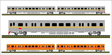 Railcar train illustration  Vector
