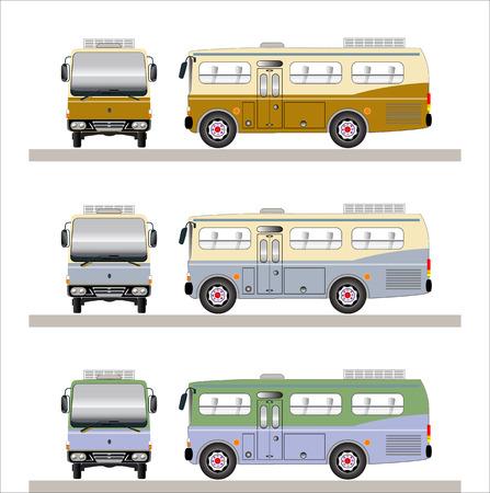 Short bus vintage  Vector