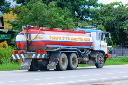 contracting: CHIANGMAI, THAILAND-AUGUST 22 2014 :PAYAWAN water Truck. Photo at Road No.121 about 8 Km from Chiangmai city.