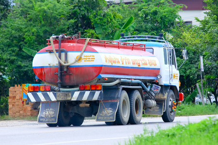 CHIANGMAI, THAILAND-AUGUST 22 2014 :PAYAWAN water Truck. Photo at Road No.121 about 8 Km from Chiangmai city.