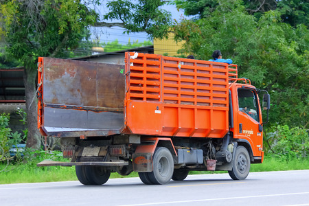 CHIANGMAI , THAILAND - SEPTEMBER 4 2014: Garden truck of Nongjom Subdistrict Administrative Organization. Photo at road no 121 about 8 km from downtown Chiangmai, thailand. Editoriali