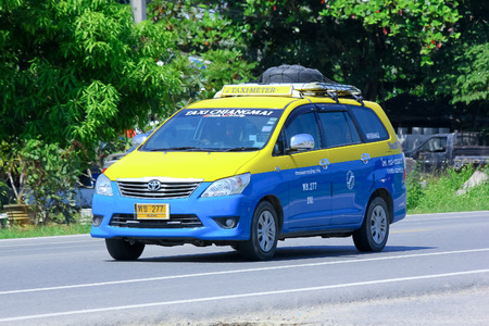 CHIANGMAI, THAILAND - OCTOBER 3 2014: City taxi chiangmai, Service in city. Photo at road no.121 about 8 km from downtown Chiangmai, thailand.