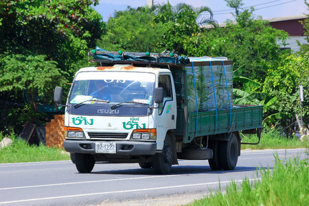 CHIANGMAI, THAILAND - OCTOBER 3 2014: Truck  of Thai Beverage Public Company Limited. Photo at road no 121 about 8 km from downtown Chiangmai, thailand.