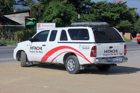 onsite: CHIANGMAI, THAILAND - NOVEMBER 13 2014:  Mini truck of Hitachi thailand. For onsite service.  Photo at road no.121 about 8 km from downtown Chiangmai, thailand. Editorial