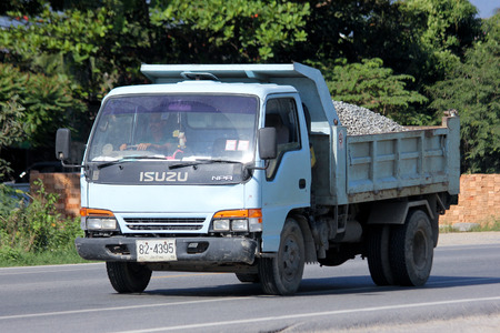 truckload: CHIANGMAI, THAILAND-NOVEMBER 17 2014:  Private dump truck. Photo at road no.121 about 8 km from downtown Chiangmai, thailand.