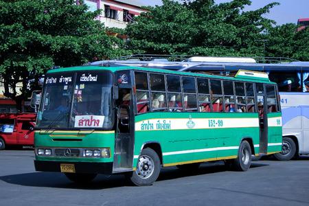 CHIANGMAI, THAILAND- MAY 11 2014: Greenbus company bus route Lampang and Chiangmai. Budget fan bus, Photo at Chiangmai bus station, thailand.