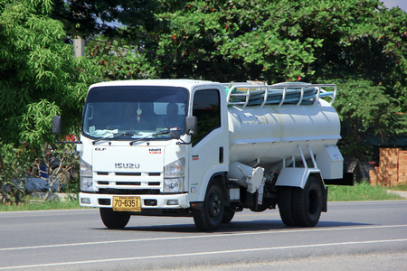 CHIANGMAI, THAILAND - OCTOBER 10 2014: Private of Sewage truck. Photo at road no.121 about 8 km from downtown Chiangmai, thailand. Editoriali