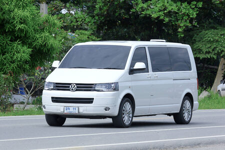 CHIANGMAI, THAILAND -OCTOBER 6 2014: Private van. Photo at road no.121 about 8 km from downtown Chiangmai, thailand. Editoriali