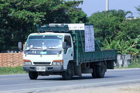 public company: CHIANGMAI, THAILAND -OCTOBER 18 2014: Truck of Thai Beverage Public Company Limited. Photo at road no 121 about 8 km from downtown Chiangmai, thailand.