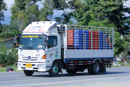 CHIANGMAI, THAILAND - OCTOBER  30  2014: Truck of Payao Phatthana Transport. Photo at road no.121 about 8 km from downtown Chiangmai, thailand.