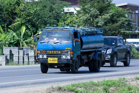 CHIANGMAI, THAILAND - NOVEMBER 1 2014:  Private of Sewage truck. Photo at road no.121 about 8 km from downtown Chiangmai, thailand.