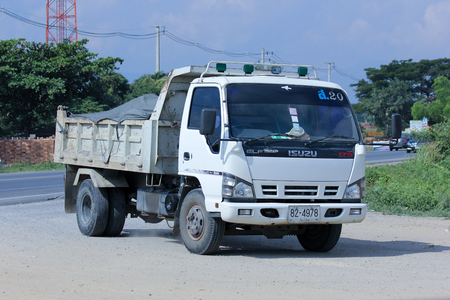 truckload: CHIANGMAI, THAILAND - DECEMBER 9 2014: Dump Truck of Sor Transport Company. Photo at road no.121 about 8 km from downtown Chiangmai, thailand.