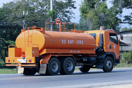 CHIANGMAI , THAILAND - DECEMBER 11 2014:   Water Truck  of Thailand Royal Irrigation Department. Photo at road no.121 about 8 km from downtown Chiangmai, thailand.