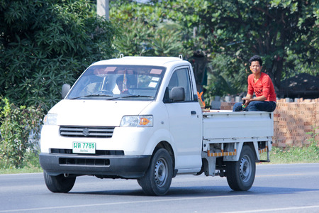 CHIANGMAI, THAILAND - DECEMBER 15 2014: Private Pick up truck.  Photo at road no.121 about 8 km from downtown Chiangmai, thailand.
