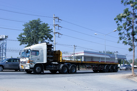 sg: CHIANG MAI, THAILAND - DECEMBER  25 2014: Trailer Truck of SG transport company.  Photo at road no.1001 about 8 km from city center, thailand. Editorial