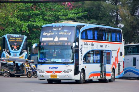 ngv: Chiangmai, Thailand - April 7, 2014: Vintour company bus  Route Phitsanulok and Chiangmai. Photo at Chiangmai bus station. Thailand. Editorial