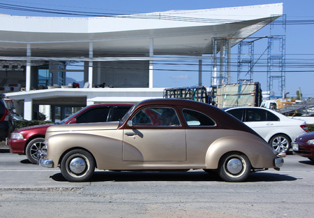 8   12: CHIANG MAI, THAILAND - JANUARY 12 2015: Private old Car. Photo at road no.1001 about 8 km from downtown Chiangmai, thailand.