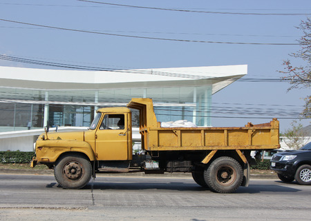 truckload: CHIANGMAI, THAILAND - FEBRUARY 5 2015:  Old Private Dump Truck. Photo at road no 1001 about 8 km from downtown Chiangmai, thailand.