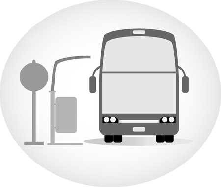 tourists stop: Double deck bus vector Illustration
