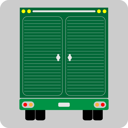 back view: Back view of Truck icon vector