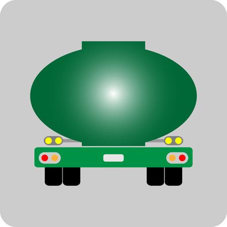 Olie Tank Vrachtwagen pictogram vector Vector Illustratie