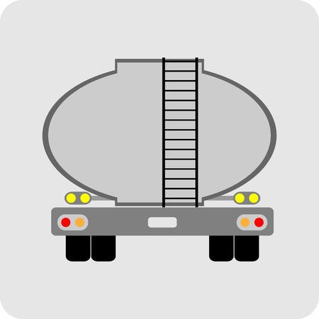 石油タンクローリーのアイコン ベクトル  イラスト・ベクター素材