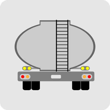 Oil Tank Truck icon vector Ilustração