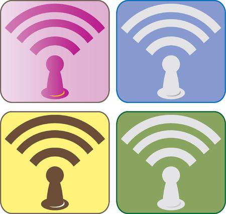 icono wifi: wifi icono de vectores