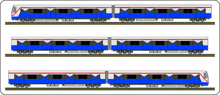 high speed rail: Sky train, Bangkok Thailand, Vector bts, train Illustration
