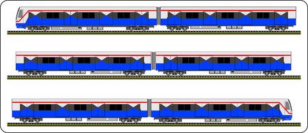 Sky train, Bangkok Thailand, Vector bts, train Illustration