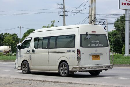 km: CHIANGMAI, THAILAND -AUGUST 20 2015: Private Toyota  van. Photo at road no.121 about 8 km from downtown Chiangmai, thailand.