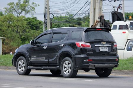 CHIANGMAI, THAILAND -AUGUST 20 2015:  Private car, Chevrolet trailblazer. Photo at road no 121 about 8 km from downtown Chiangmai, thailand.