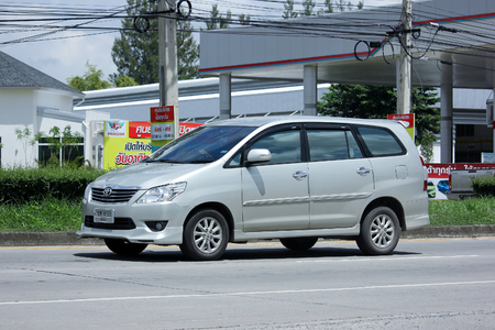 mpv: CHIANGMAI, THAILAND -AUGUST 21 2015: Private MPV Car, Toyota Innova. Photo at road no 121 about 8 km from downtown Chiangmai, thailand.