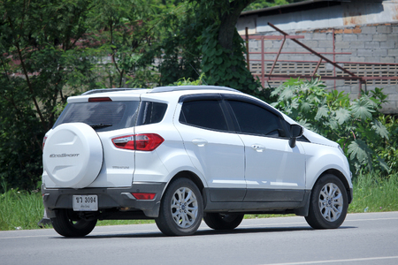 mpv: CHIANGMAI, THAILAND -AUGUST 21 2015: Private MPV Car, Ford Kuga Titanium. Photo at road no 121 about 8 km from downtown Chiangmai, thailand.