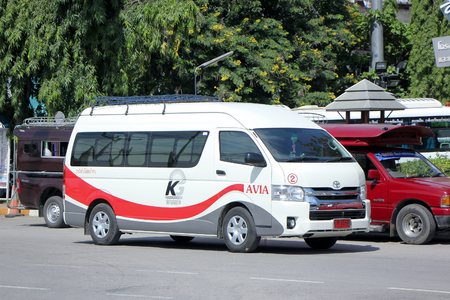 avia: CHIANGMAI, THAILAND -SEPTEMBER 26 2015: Van of AVIA or Kijrung Jaroen Group. For Private Group to Travel.  Photo at Chiangmai bus station, thailand. Editorial