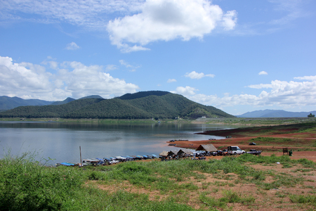 km: CHIANGMAI, THAILAND -OCTOBER  14  2015: Mae Ngad dam, Location about 40 km north of Chiangmai city, Maetang District, Chiangmai, Thailand.