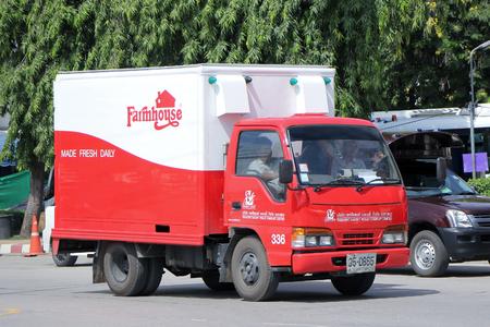 public company: CHIANGMAI, THAILAND -SEPTEMBER 26 2015: Fast Delivery Truck of PRESIDENT BAKERY PUBLIC COMPANY LIMITED  Farmhouse product . Photo at New Chiangmai bus station, thailand.