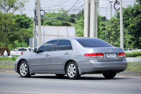 accord: CHIANGMAI, THAILAND -AUGUST 25 2015: Private car, Honda Accord. Photo at road no 121 about 8 km from downtown Chiangmai, thailand.
