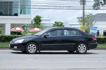 accord: CHIANGMAI, THAILAND -SEPTEMBER  10 2015:   Private car, Honda accord. Photo at road no.121 about 8 km from downtown Chiangmai, thailand.