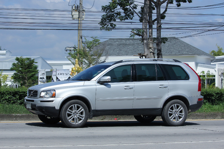 CHIANGMAI, THAILAND -SEPTEMBER  22 2015:  Private car, Volvo XC90. Photo at road no 121 about 8 km from downtown Chiangmai, thailand.
