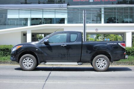 CHIANGMAI, THAILAND -SEPTEMBER 28 2015: Private Pick up Truck, Mazda BT-50. Photo at road no.121 about 8 km from downtown Chiangmai, thailand.