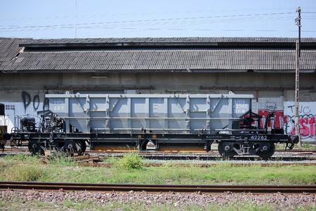 wagon: CHIANGMAI, THAILAND -NOVEMBER 18  2015: Bogie Hopper Wagon  of State railway of thailand Photo at Chiangmai Train Station Thailand.