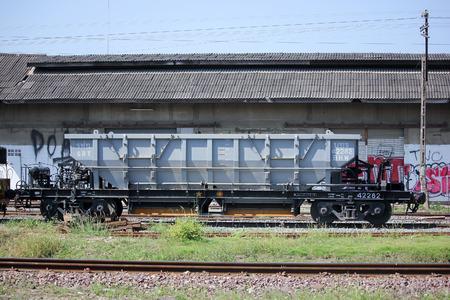CHIANGMAI, THAILAND -NOVEMBER 18  2015: Bogie Hopper Wagon  of State railway of thailand Photo at Chiangmai Train Station Thailand.