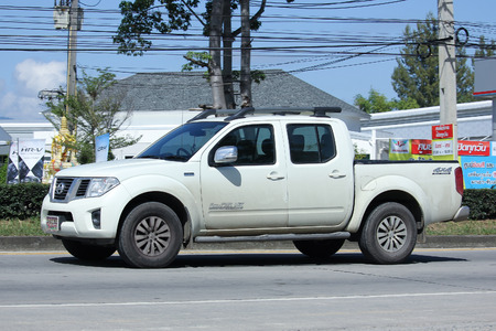 frontier: CHIANGMAI, THAILAND -OCTOBER  15 2015: Private Pickup car, Nissan Frontier. Photo at road no 121 about 8 km from downtown Chiangmai, thailand.